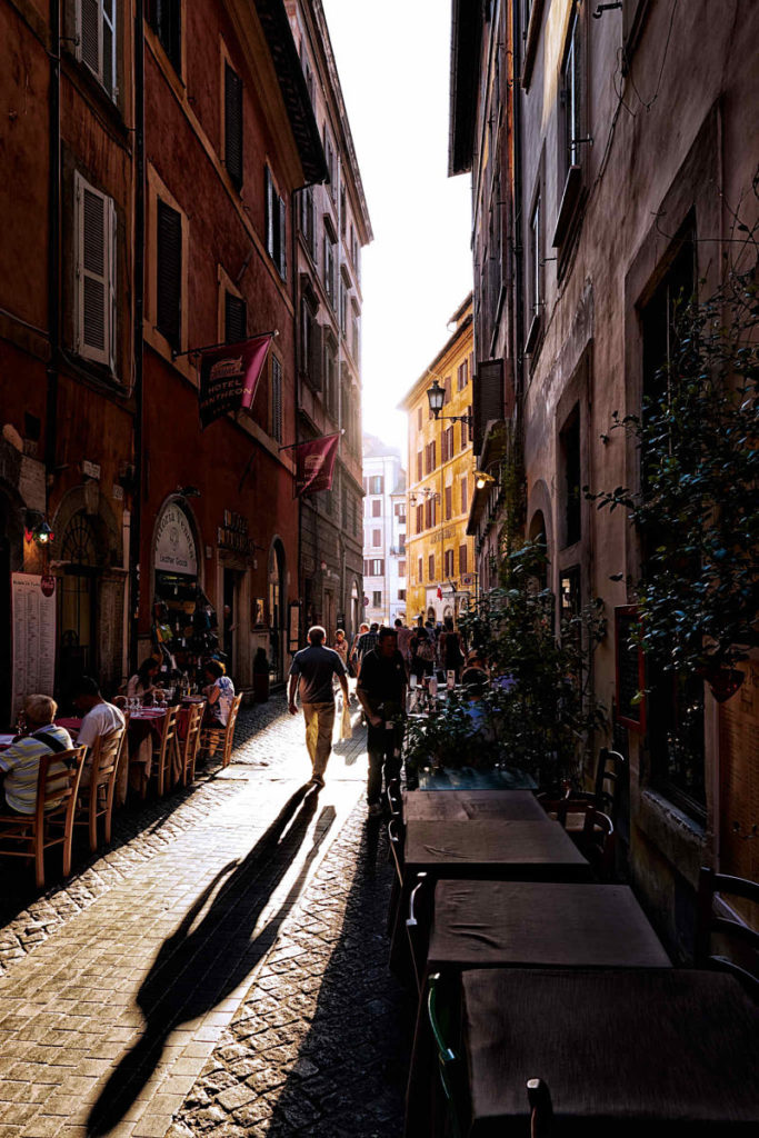 Photo of a man's shadow on a downtown walkway, Venice Italy, by visionbypixels.com