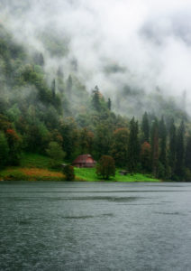 Photo of a hut on the shore of the Konigssee, Bavaria, Germany, by visionbypixels.com