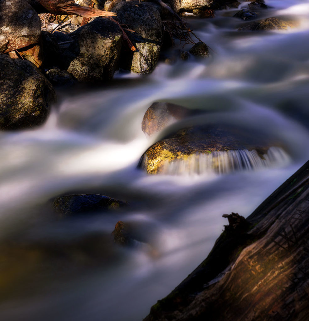 Photo of a stream waterfall at Yosemite National Park, California by visionbypixels.com
