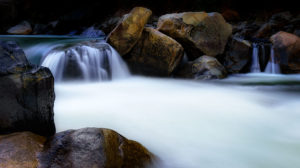 Photo of a Merced River waterfall at Yosemite National Park, California, by visionbypixels.com