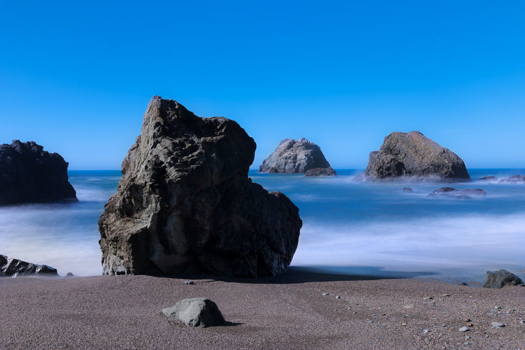Photo of rock on shore of Bodega Bay, California by visionbypixels.com
