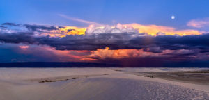 Monsoon Cloud Over White Sands